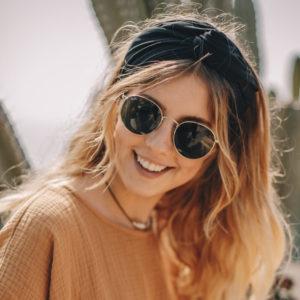 Premium haarband zwart van Looks by Luks